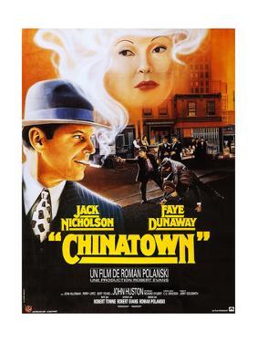 Chinatown, French Poster Art, Jack Nicholson, Faye Dunaway, 1974