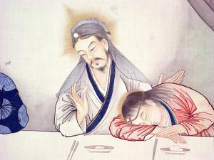 Last Supper, Christ and St John by Chinese School