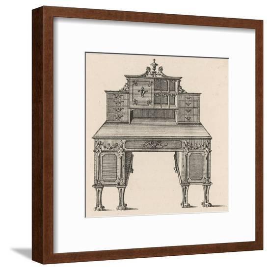 Chippendale Bureau--Framed Giclee Print