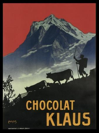 Chocolat Klaus Mountains Switzerland 1910
