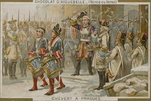 Chocolaterie D'Aiguebelle Trade Card with an Image of the Francois De Chevert