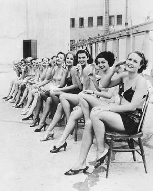 Chorus Line Girls on Chairs