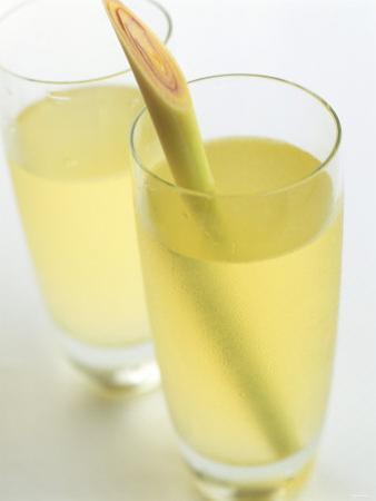 Lemon Grass Lemonade in Two Glasses by Chris Alack