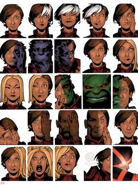 Uncanny X-Men #14 Cover: Deeds, Benjamin, Tempus, Frost, Emma, Stepford Cuckoos, Hulk, Beast by Chris Bachalo