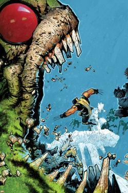 Wolverine & The X-Men No.2 Cover: Wolverine, Iceman, and Hulk Fighting by Chris Bachalo