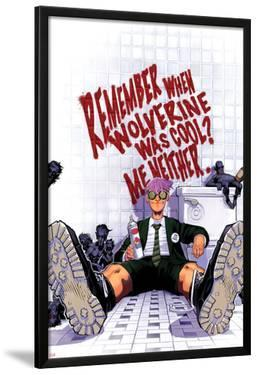 Wolverine & The X-Men No.3 Cover: Quentin Quire Sitting in the Bathroom by Chris Bachalo