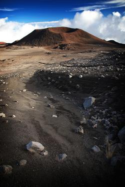 A Cinder Cone Looms Along the Road to the 13,796-Foot High Mauna Kea Observatory by Chris Bickford
