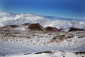 A View from the Summit of Mauna Kea on the Big Island of Hawaii, Elevation 13,796 Feet by Chris Bickford