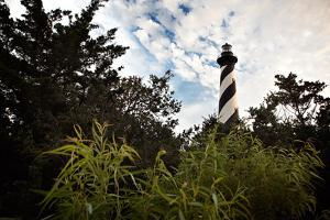 Cape Hatteras Lighthouse on a Cloudy Day in North Carolina by Chris Bickford