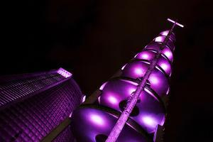 Metropolitan Cathedral of Rio De Janeiro, Lit Up Purple During Brazil's Carnival Celebration by Chris Bickford