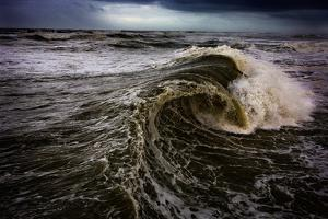 Rough Waves Break Just Off the Outer Banks in North Carolina by Chris Bickford