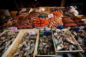 Seafood for Sale on Display in Paris, France by Chris Bickford