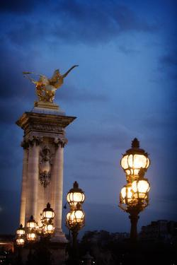 Street Lampsin the Evening in Paris, France by Chris Bickford