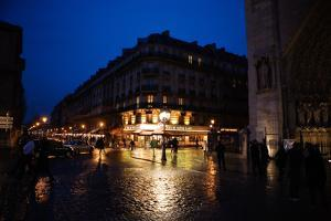 Streets of Paris at Night by Chris Bickford