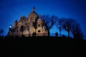 The Basilica of the Sacred Heart of Paris at Night by Chris Bickford