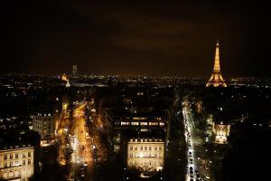 The Eiffel Tower and the City Paris at Night by Chris Bickford