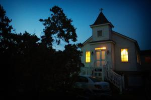The Old Ocracoke Church, Which Was Moved and Turned into a Private Residence by Chris Bickford