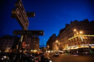 Traffic in the Evening Along the Streets of Paris, France by Chris Bickford