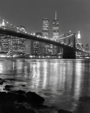 Brooklyn Bridge with World Trade Center by Chris Bliss