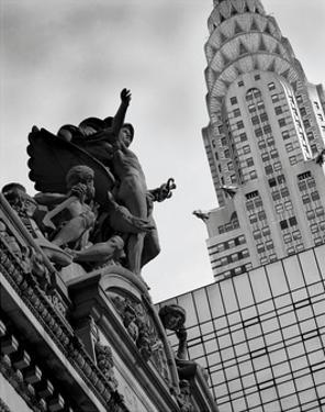Mercury Statue and Chrysler Building by Chris Bliss