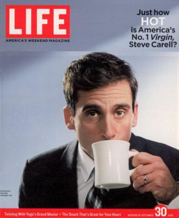 Comic Actor Steve Carell Drinking from a Cup, September 30, 2005 by Chris Buck