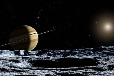 Saturn From Rhea