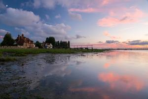 A View of the Water's Edge at Bosham in West Sussex by Chris Button