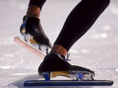 Detail of Speed Skater,S Feet at the Start, Inzell by Chris Cole