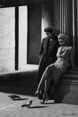 Marilyn and Elvis On the Street Corner by Chris Consani
