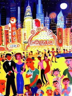 Busy Nightlife in New York City, United States by Chris Corr