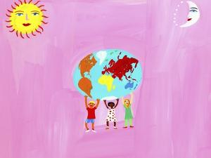 Children Holding the Globe by Chris Corr
