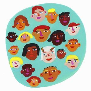 Circle Containing Lots of Children's Faces by Chris Corr