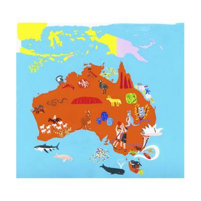Illustrated Map of Australia by Chris Corr