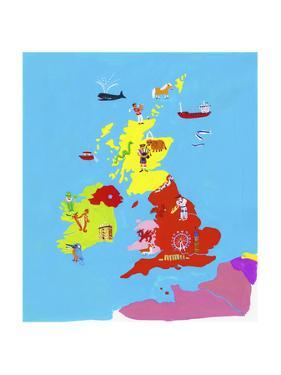 Illustrated Map of British Isles by Chris Corr