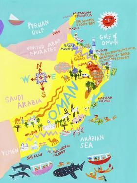 Illustrated Map of Oman by Chris Corr