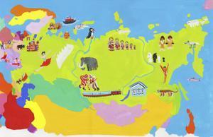 Illustrated Map of Russia, Estonia, Latvia, Lithuania, Belarus, Ukraine and Moldova by Chris Corr