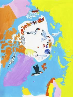 Illustrated Map of the North Pole by Chris Corr