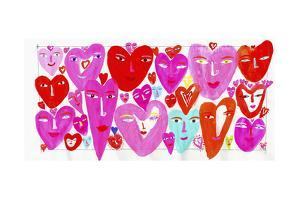 Lots of Hearts with Smiling Faces by Chris Corr