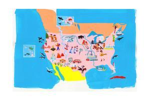 Map of USA by Chris Corr