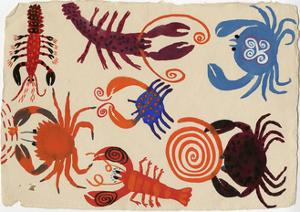 Patterned Lobsters and Crabs by Chris Corr