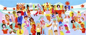 People Shopping and Eating in Vibrant Street Market by Chris Corr
