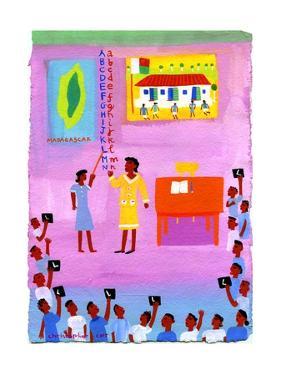 Teachers Teaching Children Alphabet by Chris Corr