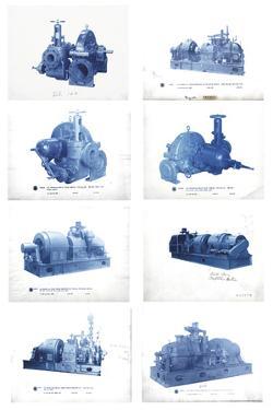 Mechanical Cyanotypes by Chris Dunker