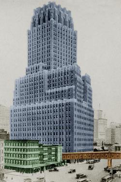 New York Postcard - Telephone by Chris Dunker