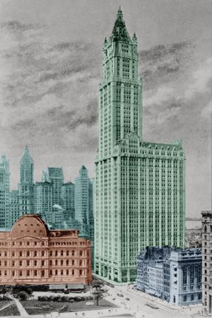 New York Postcard - Woolworth by Chris Dunker