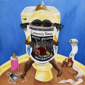 Flush Ignorance, 2014 by Chris Fabor