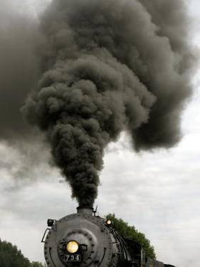 Smoke Billows from the Smoke Stack of Engine No. 734 by Chris Gardner