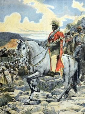 Emperor Negus Menelik II of Ethiopia at Battle of Adwa 1896 by Chris Hellier
