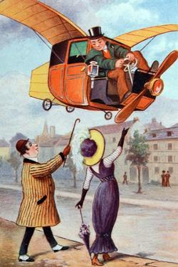 Futurist Flying Taxi C1910 by Chris Hellier