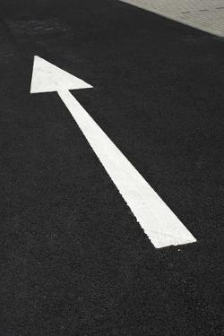 Arrow Marking on Road by Chris Henderson